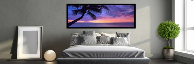 Sunset Silhouette Palm Tree - Wall Art
