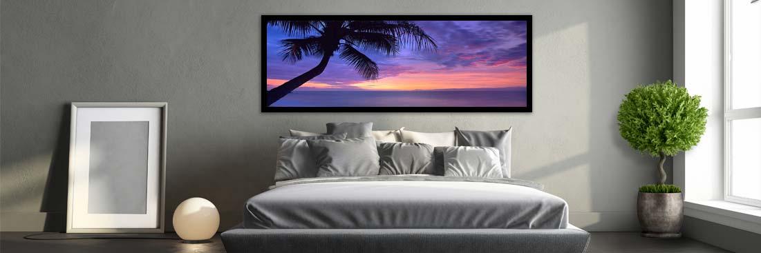Sunset Silhouette Palm Tree - Wall Art