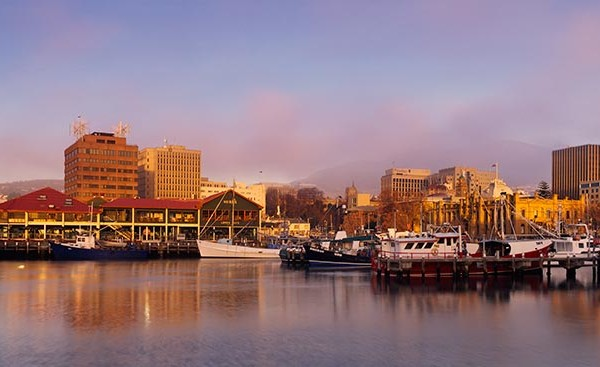 Hobart at Dawn
