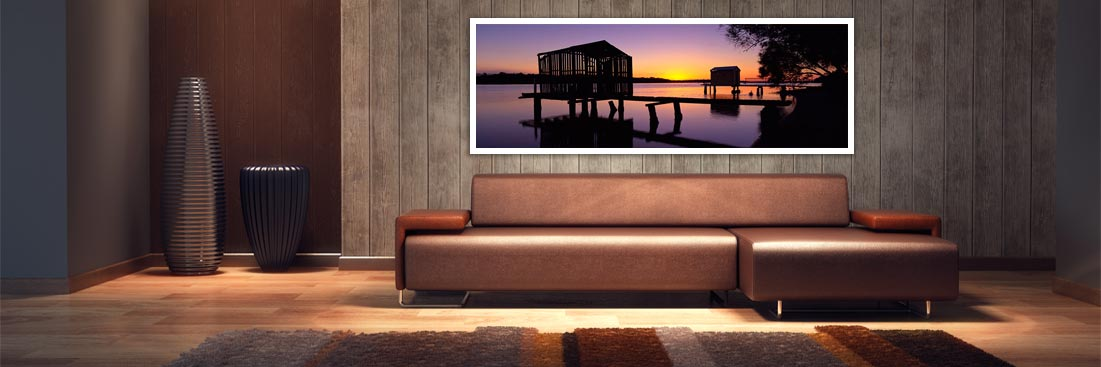 Maroochy River Boat Houses - Wall Art