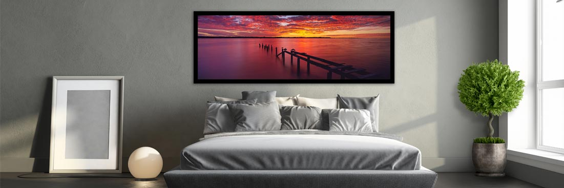 Raby Bay, Cleveland Sunset Jetty - Wall Art