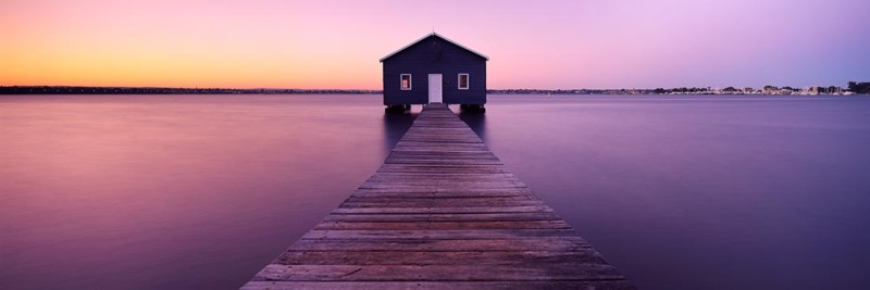 Crawley Edge Boatshed Sunrise - Landscape Photography