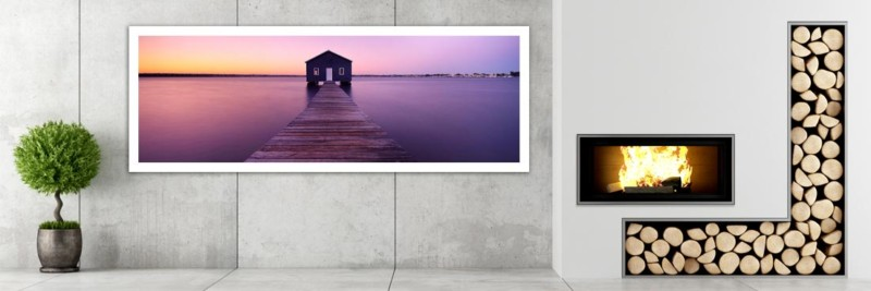 Swan River Boat House, Perth - Wall Art