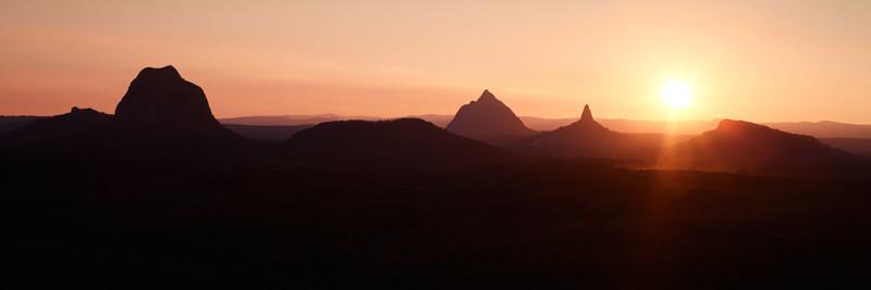 Glasshouse Mountains Sunset Photography