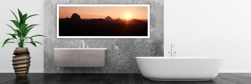 Glasshouse Mountains Sunset - Wall Art