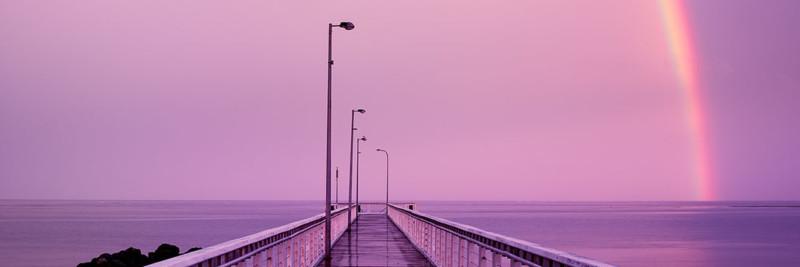 Sunset Rainbow - Landscape Photography