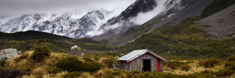 Hooker Valley Hut Landscape Photography