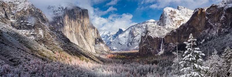 Yosemite National Park, Tunnel View Winter Scene