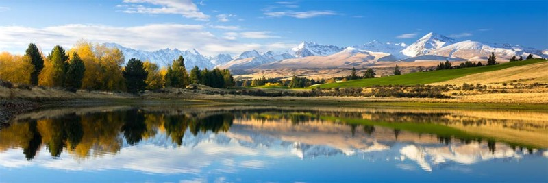 New Zealand Snowy Mountains - Landscape Photography