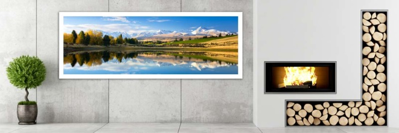 New Zealand Snowy Mountains - Wall Art