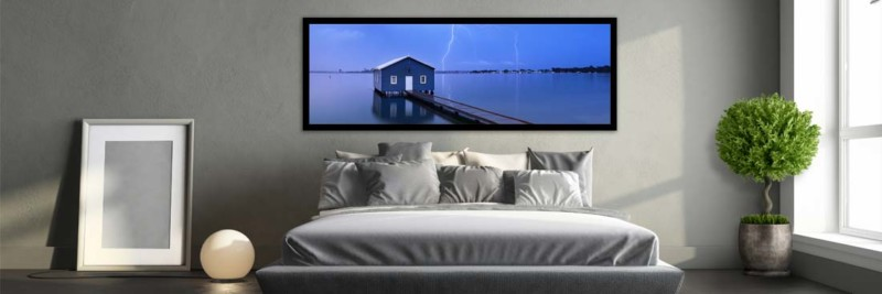 Blue Boat House Perth - Wall Art
