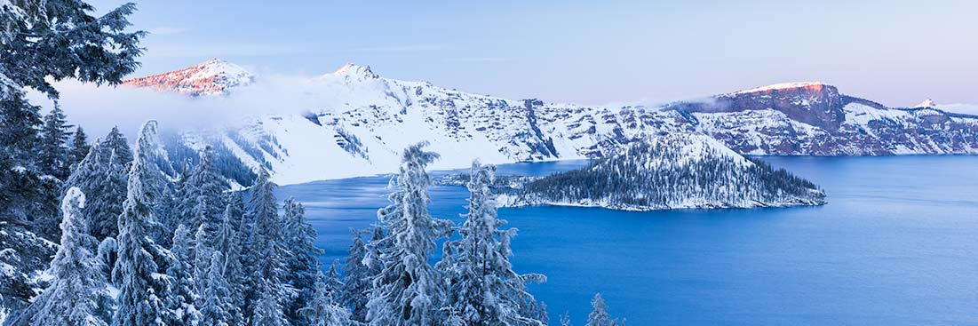Crater Lake Winter Photos